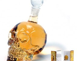 AutoM Fantastic Crystal Design Head Vodka Skull Face Bone Glass Bottle Decanter Empty Bar Line 350ML