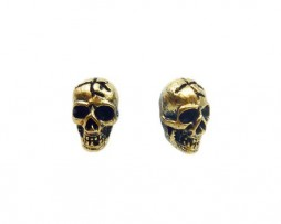 TdZ Punk Cracked Skull Stud Earrings