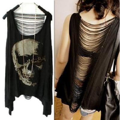 skull tops for ladies