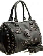 MG Collection Howea Trendy 3D Devil Gothic Studded Doctor Style Shoulder Bag