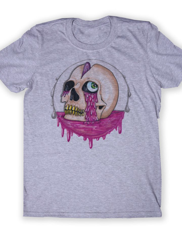 Acid Skull Shirt Grunge Psychedelic Alternative Clothing Punk Human Skull Tumblr Graphic T-shirt