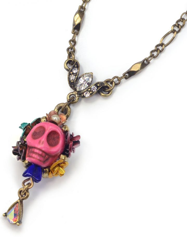 Skull Necklace, Day of the Dead Necklace, Calavera Skull Necklace, Dia de los Muertos Necklace, Day of the Dead Jewelry, Skull Jewelry N241