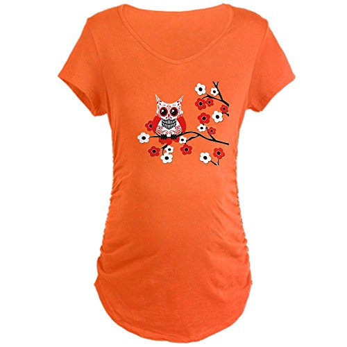 orange sugar skull owl t-shirt