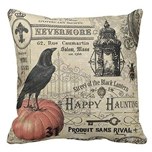 Gotd BIRD ON Pumpkin Halloween Pillows Cover Decorations Decor Hallowe Adorable Halloween Pillows Decorations