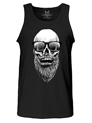 Gs Eagle Men S M003ts Printed Skull With Beard And